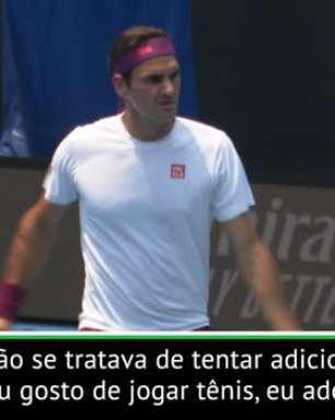 """TÊNIS: Australia Open: Federer: """"Tudo bem se meu recorde de Grand Slams for batido"""""""