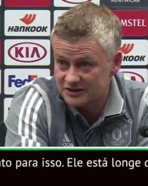 """FUTEBOL: Liga Europa: """"Pogba está longe de voltar ao time principal"""" - Solskjaer"""