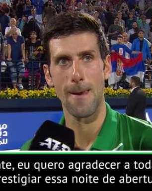 """TÊNIS: ATP Dubai: Djokovic: """"Um prazer estar de novo em Dubai"""""""