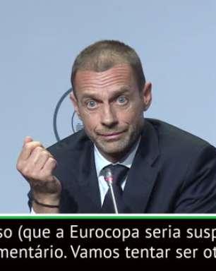 """Euro 2020: """"Infantino não disse que o torneio vai ser suspendido"""", afirma presidente da Uefa"""
