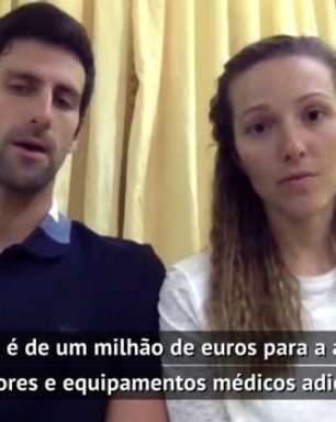 TÊNIS: Geral: Novak e Jelena Djokovic doarão 1 milhão de euros para ajudar a combater o coronavírus