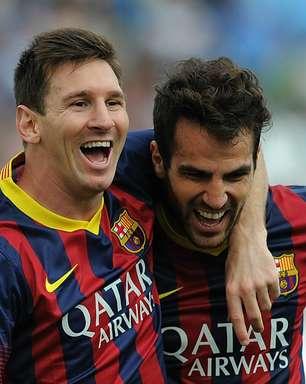 """Fábregas banca: """"Messi vai encerrar a carreira no Barcelona"""""""