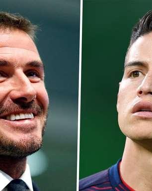 Beckham quer levar James Rodriguez para seu time nos EUA