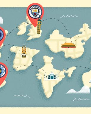 Quais são as filiais do Manchester City ao redor do mundo?