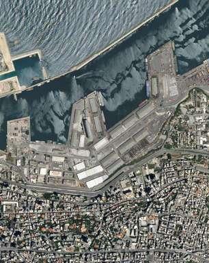 Danos causados por explosão no Líbano são vistos do espaço