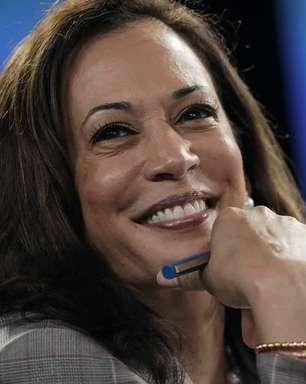 O sorriso da nova vice-presidente dos EUA, Kamala Harris