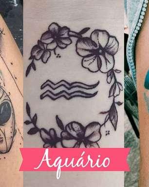 Tatuagem de Aquário: veja 10 ideias de tattoo para o signo