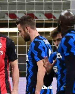 Eriksen sai do banco, marca de falta nos acréscimos, e Inter de Milão elimina o Milan na Copa da Itália