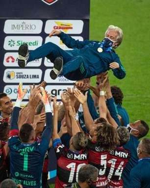 """Jorge Jesus fala de título do Flamengo: """"Fiquei feliz. A gente quer o bem dos amigos"""""""