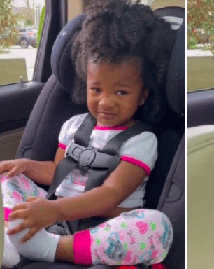 Despedida emocionante de vovô e neta é filmada por mãe