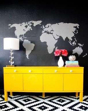 Aparador Amarelo: +50 Modelos e Dicas Para Iluminar a Decoração