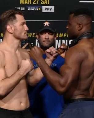 Miocic e Ngannou disputam cinturão peso-pesado na luta principal do UFC 260; dois brasileiros entram em ação