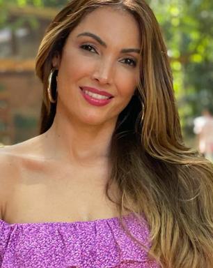 Patricia Poeta aposta em look com decote ciganinha de R$ 998