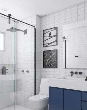Banheiro Azul: +68 Ideias Criativas para Decorar seu Ambiente