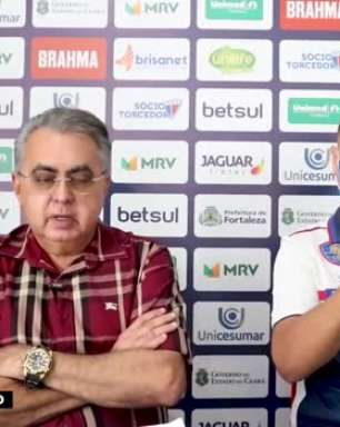 """FORTALEZA: Papellin reconhece como 'urgente' a contratação de um camisa 9 e nega interesse pelo zagueiro Marcelo Benevenuto: """"Não tem nenhuma negociação com ele"""""""