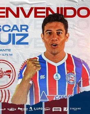 Atacante paraguaio Óscar Ruiz chega para o Bahia