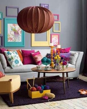 Moldura Colorida: +47 Ideias para Quadros, Espelhos e Foto
