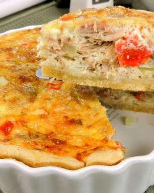 Lanche prático e saboroso com quiche de atum com queijo