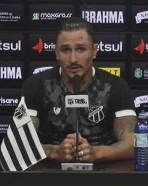 """CEARÁ: Vina fala sobre 'frio na barriga' antes da estreia da equipe na Sulamericana: """"É isso que me move"""""""