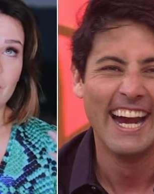 Fernanda Souza revela o que Bruno De Luca fez por ela na escola e ele se emociona