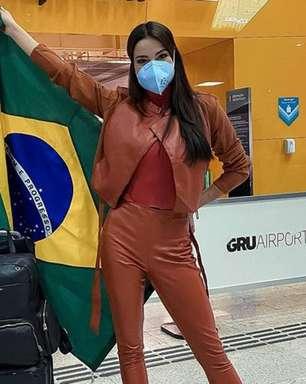 Miss Brasil Julia Gama embarca para disputar o Miss Universo 2020