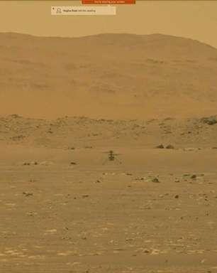 Helicóptero Ingenuity consegue voar com êxito em Marte