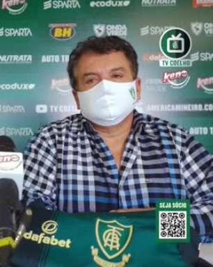 """AMÉRICA-MG: Salum reforça que trabalho de contratações não depende do clube-empresa: """"é o momento de caprichar, não podemos errar"""""""