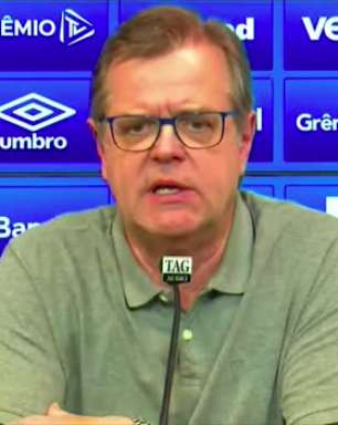 GRÊMIO: Marcos Herrmann confirma conversas com Tiago Nunes e diz querer definir novo treinador o mais rápido possível
