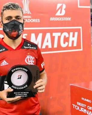 Herói da virada do Flamengo, Arrascaeta elogia grupo na estreia da Libertadores: 'Lutaremos até o final'