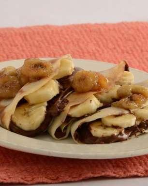 Receita prática de panqueca de banana com Nutella®