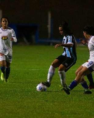 Cruzeiro sai na frente, mas é derrotado pelo Grêmio no Brasileiro Feminino Série A1