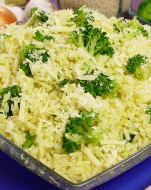 Arroz com brócolis pronto em 30 minutos