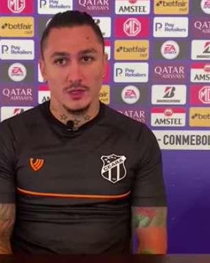 """CEARÁ: Vina pede maturidade na parte mental e alerta para característica da partida contra o Arsenal pela Sul-Americana: """"eles gostam da catimba"""""""
