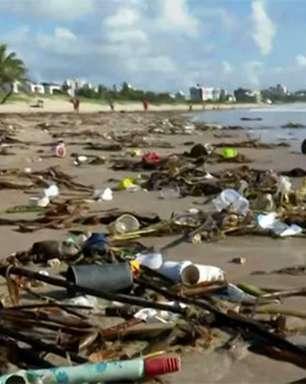 Lixo nas praias de RN e PB pode ter se originado no Recife