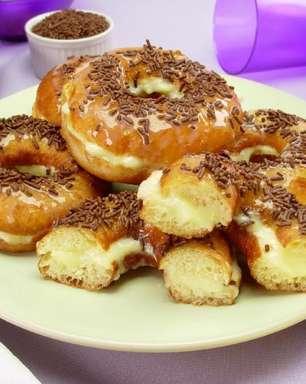 Receita prática de donuts recheado para saborear ou vender