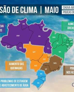 Spoilers do clima em maio