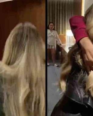 Sarah mostra reencontro com Gilberto: 'Meu campeão'