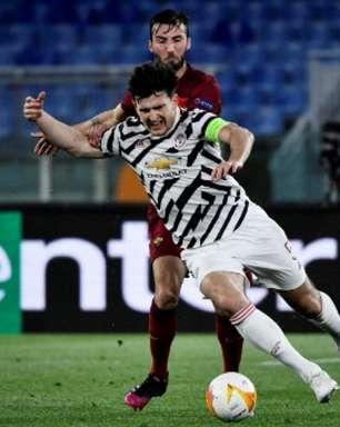 Maguire discute derrota em classificação do United: 'Não queremos comemorar a vitória desta noite'