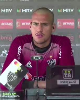 ATLÉTICO-MG: Matheus Mendes cita respeito por colegas, mas fala de ambição por titularidade no gol do Galo