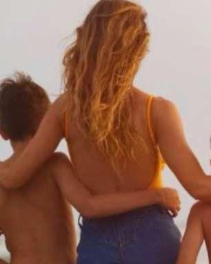Gisele Bündchen se declara aos filhos e exalta maternidade: 'Não existe amor maior'