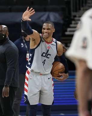 Westbrook decide, iguala recorde da NBA e Wizards derruba Pacers