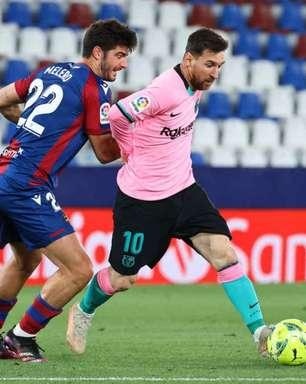 Barcelona empata com o Levante e desperdiça chance de dormir na liderança do Espanhol
