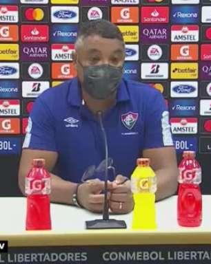 """FLUMINENSE: Roger desconversa sobre planejamento para a decisão do Carioca contra o Flamengo: """"Não estou preocupado com os nomes que irão a campo"""""""