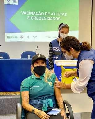 Silvana Lima festeja vacinação para os Jogos de Tóquio