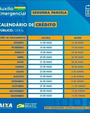 Auxílio emergencial: confira o novo calendário de pagamento da segunda parcela