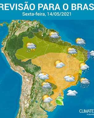 Ar seco predomina sobre o Brasil e ainda faz frio no Sul