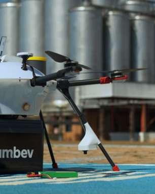 Ambev inicia teste de delivery de bebidas com drone