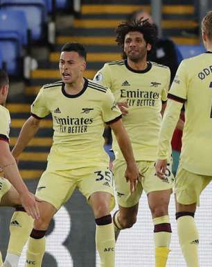 Arsenal vence o Crystal Palace com gol de Gabriel Martinelli no fim