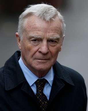 Ex-chefe da Fórmula 1 Max Mosley morre aos 81 anos