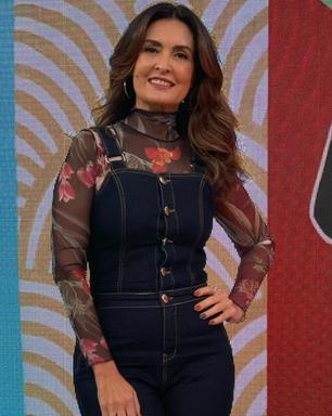 Fátima Bernardes repete visual de 2019 no 'Encontro'